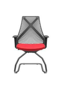 Cadeira Office Bix Aproximação Assento Vermelho 94Cm - 62736 Sun House