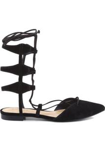 Sapatilha Gladiadora Lace Up Black | Schutz