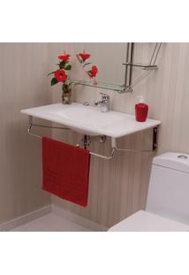 Gabinete Para Banheiro De Vidro Apolo Astra Gp-A Branco