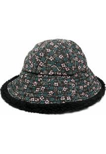 Vyner Articles Chapéu Bucket Com Estampa Floral - Preto