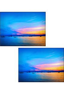 Jogo Americano Colours Creative Photo Decor - Vista Panorâmica De Florianópolis -2 Peças