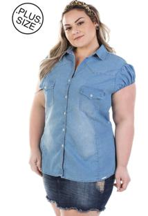Camisa Plus Size - Confidencial Extra Jeans Vinil Com Elastano
