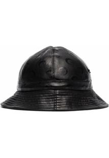 Marine Serre Chapéu Bucket Com Padronagem De Logo - Preto