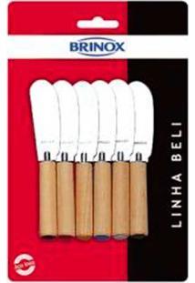 Espátulas Para Manteiga E Patê Beli 6 Peças V2 Brinox
