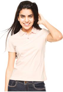 ... Camisa Polo Manga Curta Malwee Slim Rosa bcbe315dd31e9