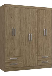 Guarda-Roupa Casal 6 Portas 4 Gavetas Jade Decibal Moveis Wood