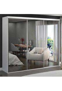 Guarda-Roupa Casal 3 Portas De Espelho 100% Mdf 1979E3 Branco - Foscarini