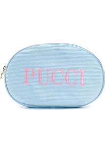 Emilio Pucci Necessaire Com Logo - Azul