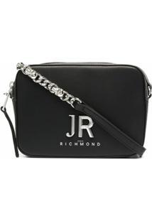 John Richmond Cocovelo Chain-Detail Shoulder Bag - Preto