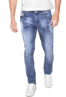 Calça Jeans Crocker Skinny Estonada Azul