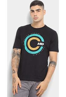 Camiseta Hd Retro Masculina - Masculino-Preto