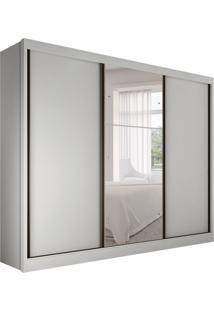 Guarda-Roupa Casal Com Espelho Rennes Gold Ii 3 Pt Branco