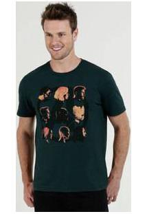 Camiseta Masculina Vingadores Manga Curta Marvel