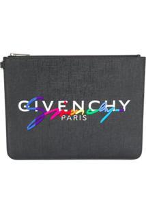 Givenchy Carteira Grande Com Logo - Preto