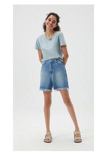 Bermuda Zinco Regular Bordado Industrial Jeans