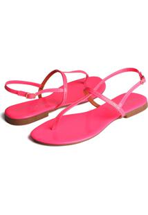 Rasteira Trivalle Shoes Rosa Neon