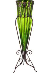 Vaso Vintage Verde Kasa Ideia - Multicolorido - Dafiti