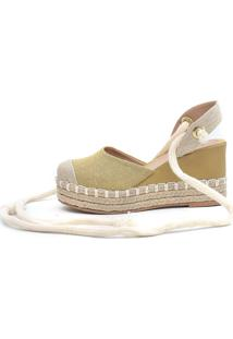 Sandália Plataforma Scarpan Calçados Finos - Juta Amarela