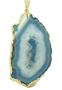 Pingente Le Diamond ÁGata Azul - Azul - Feminino - Dafiti