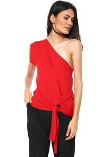 Blusa Colcci Ombro Único Vermelha