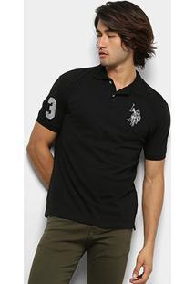 Camisa Polo U.S. Polo Assn Lisa Big Poney Masculina - Masculino-Preto