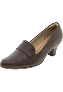0e47276158 Clóvis Calçados. Sapato Feminino Salto Baixo Café Piccadilly ...
