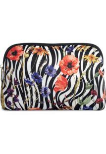 Necessaire Em Neoprene Tritengo - Zebra Floral - Feminino