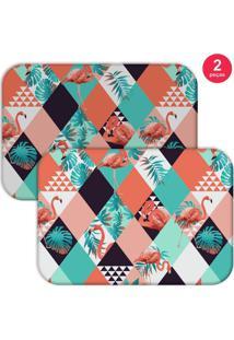 Jogo Americano Love Decor Flamingos Triângulos