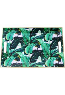Bandeja Estampada- Verde & Branca- 3,5X50,5X33Cmmabruk