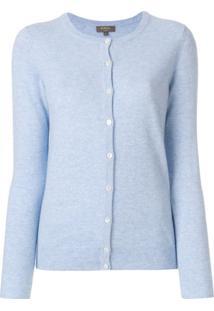 N.Peal Cardigan Com Abotoamento - Azul