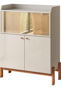 Aparador Buffet Com 3 Portas Cloe-Cimol - Off White / Savana