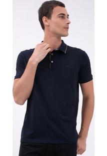 Camisa Polo Com Detalhe De Suede