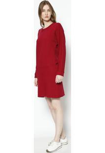 f9a6f4e4021fb Vestido Manga Longa Vermelho feminino