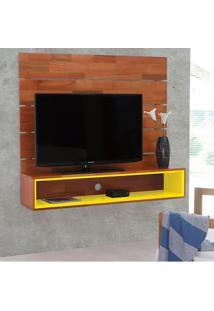 Painel Para Tv 50 Polegadas Ouro Natural E Amarelo