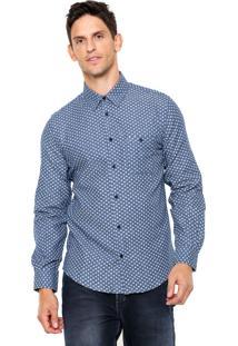 Camisa Sommer Geométrica Azul