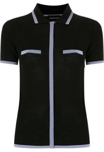 Emporio Armani Camisa Polo Mangas Curtas - Azul