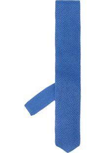 Ermenegildo Zegna Gravata Lisa - Azul