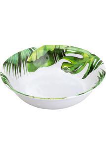 Saladeira Leaves- Branca & Verde Escuro- 7Xã˜35Cmbon Gourmet