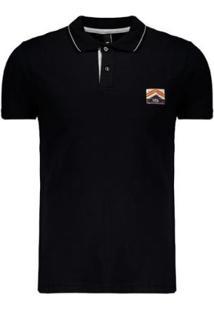 Camisa Polo Fatal College Estampada Masculina - Masculino-Preto