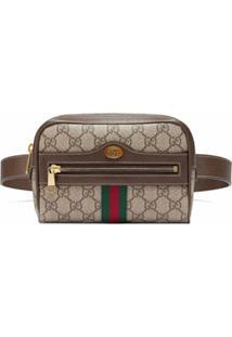 Gucci Pochete Ophidia Gg Supreme Pequena - Neutro