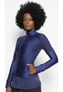 Jaqueta Com Recortes- Azul Marinho- Body For Surebody For Sure