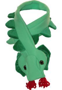 Cachecol Dani Lessa Dinossauro Verde - Verde - Dafiti