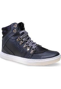Bota Masc Cavalera Shoes 13.01.1193 Cinza Envelhecido/Preto
