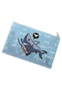 Necessaire Envelope Ó Design Tubaráo Azul