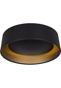 Plafon Orbit Aluminio Externo Preto/Interno Dourado 530Mm 3E27