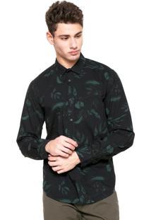 Camisa Forum Camuflada Preta/Verde