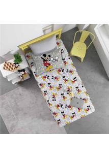 Jogo De Lençol Infantil Solteiro Malha Joy Disney Mickey Fun