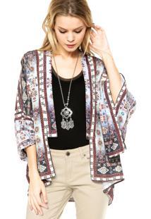 Kimono Triton Estampa Multicolorido