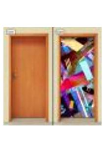 Adesivo Decorativo De Porta - Abstrato - 989Cnpt