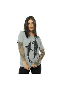 Camiseta Bossa Brasil Shark Mescla